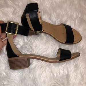 Chunky black Strap Sandals